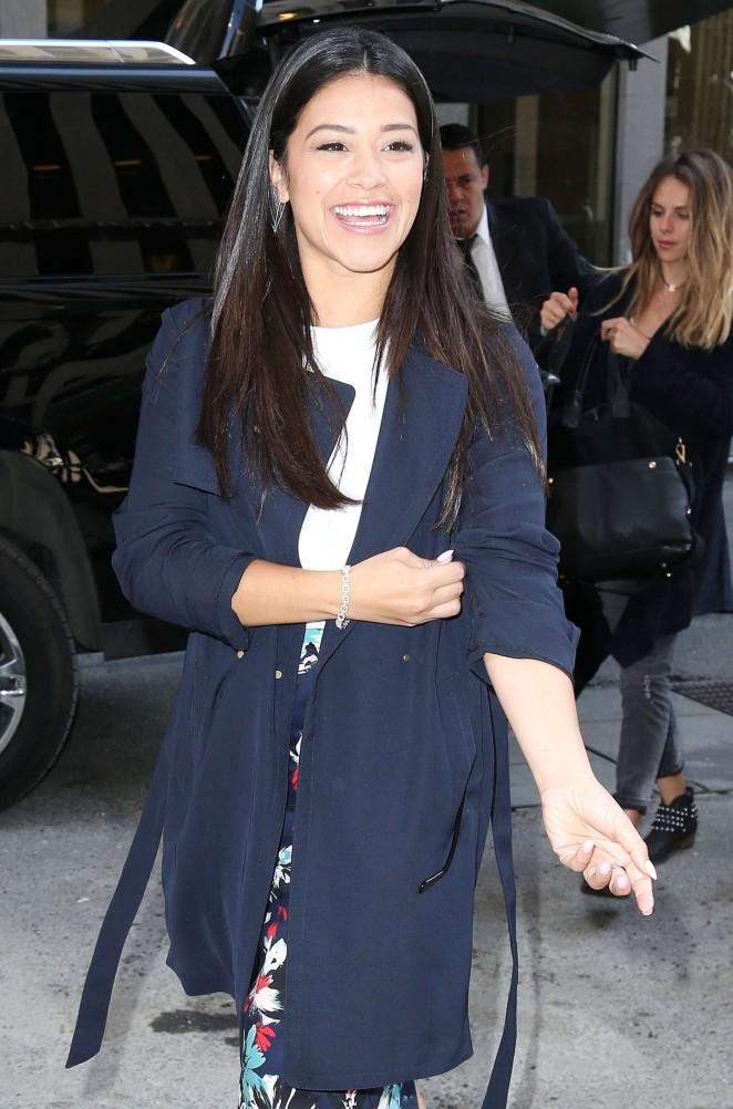 Gina Rodriguez – Visits Sirius XM Studios in New York City