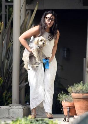 Gina Rodriguez - Walks her dog in Venice