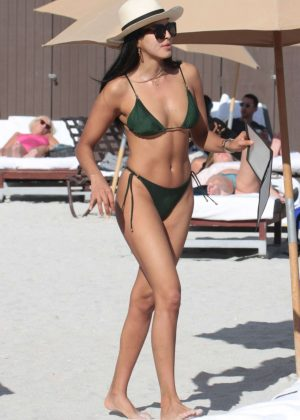 Ginevra Mavilla in Bikini at the Beach in Miami