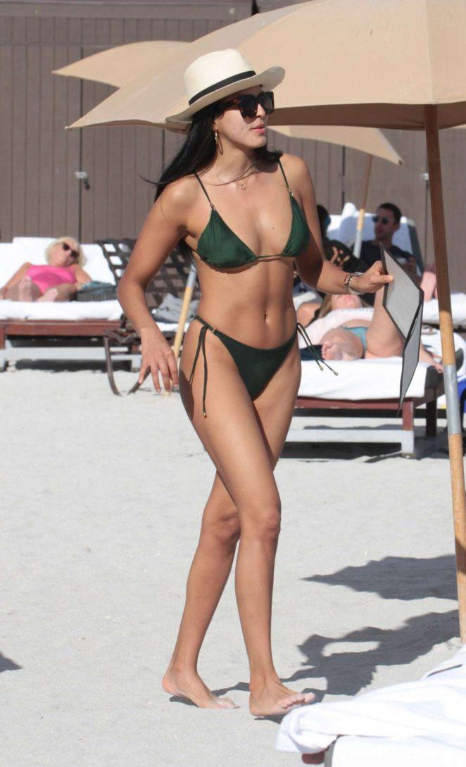 Ginevra Mavilla in Bikini at the Beach in Miami