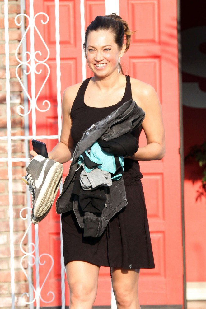 Ginger Zee at Dancing With The Stars Studio in Hollywood