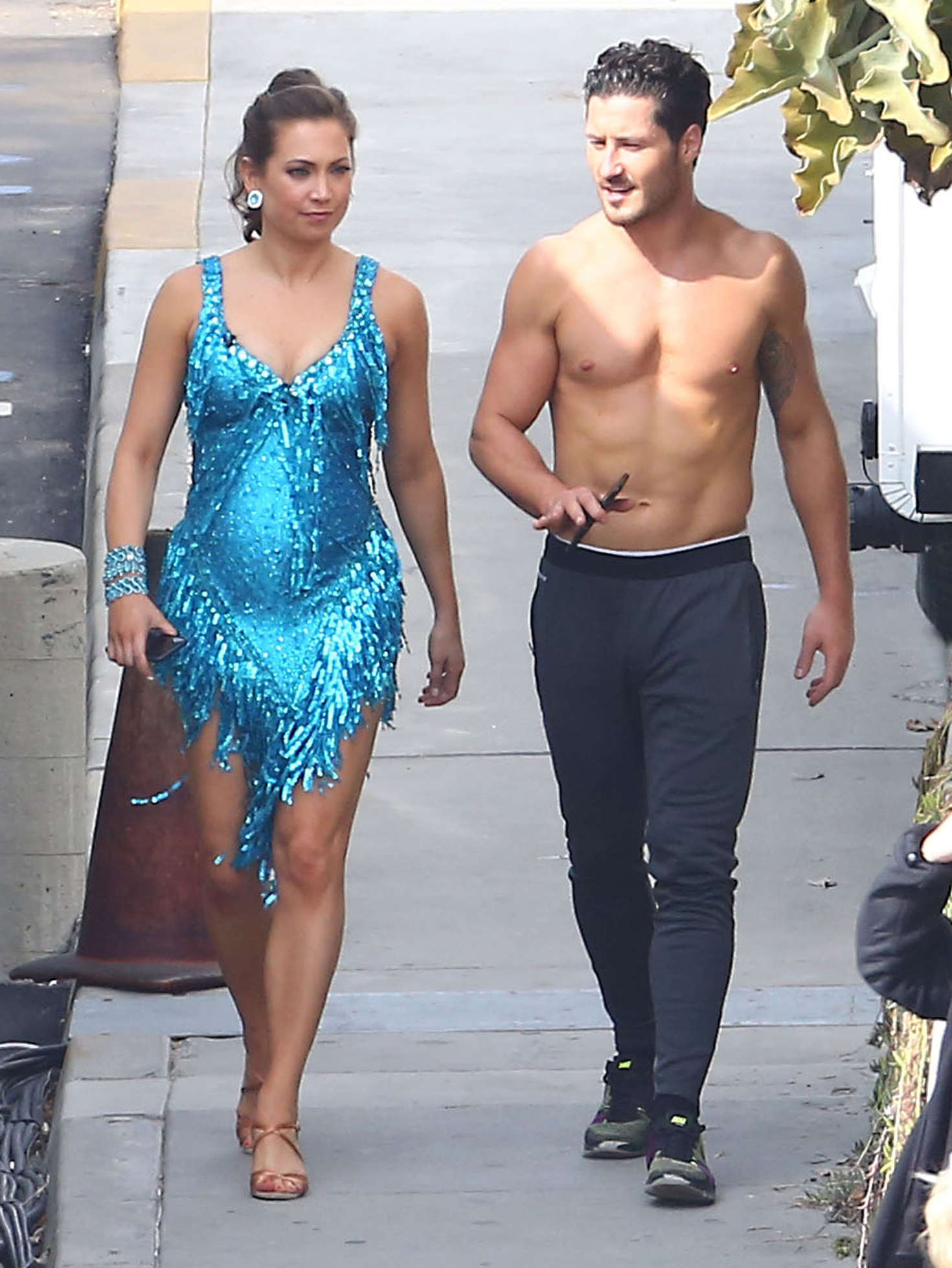 Ginger Zee Hot Pics in ginger zee at 'dancing with the stars' taping in hollywood