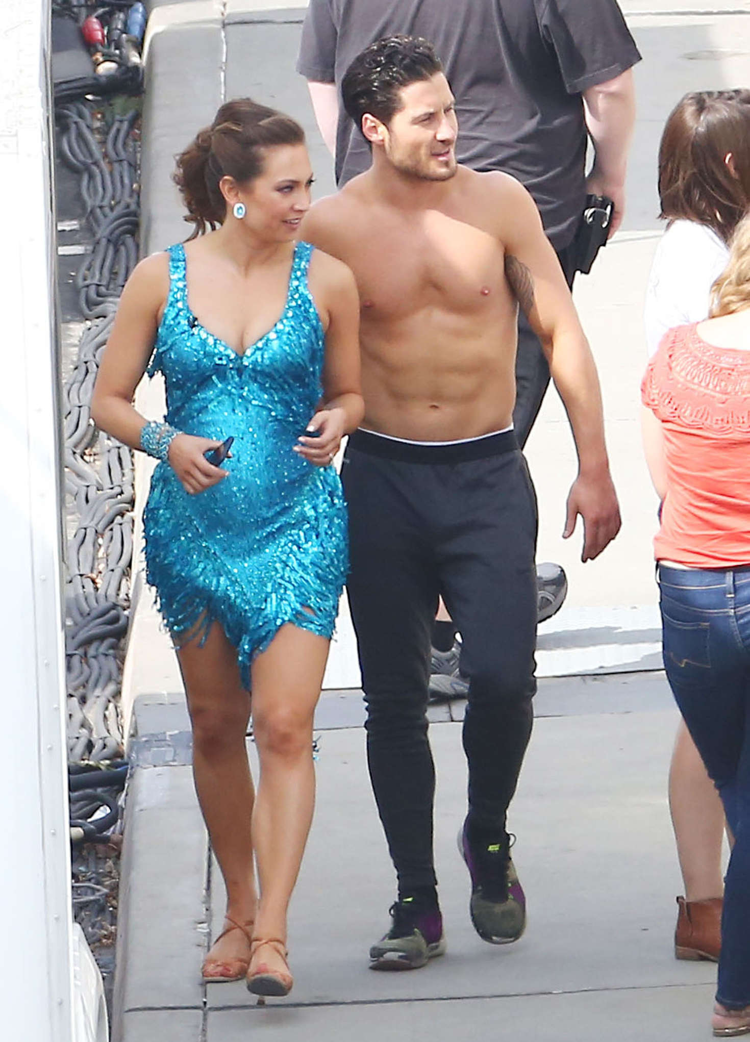 Ginger Zee Hot Pics throughout ginger zee at 'dancing with the stars' taping in hollywood