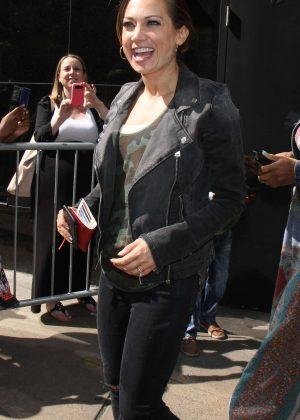 Ginger Zee at 'Good Morning America' in New York