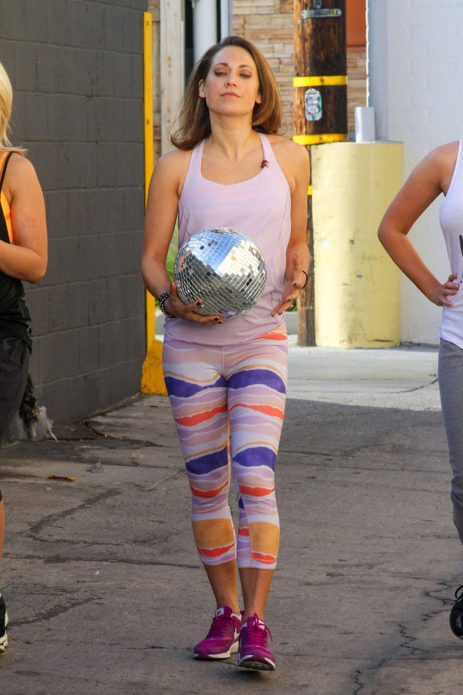 Ginger Zee In Tights At Dwts Studio 03 Gotceleb
