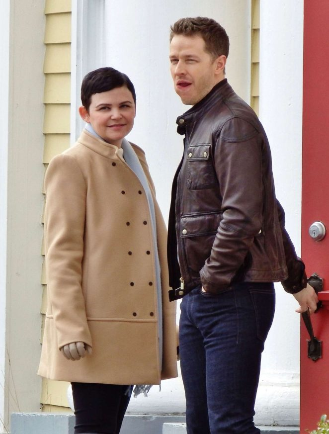 Ginnifer Goodwin and Josh Dallas on the set of 'Once Upon A Time' in Vancouver