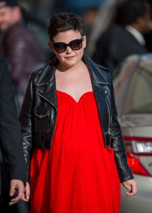 Ginnifer Goodwin - Arriving at 'Jimmy Kimmel Live' in LA