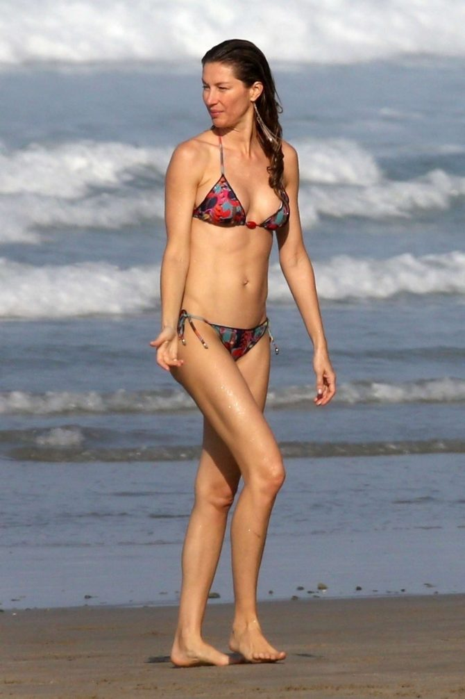 Gisele Bundchen in Bikini at the Beach in Costa Rica