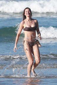 Gisele Bundchen in Bikini on a Photoshoot on the beach in Costa Rica