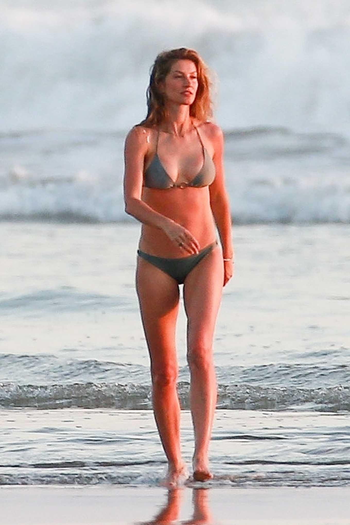 Gisele Bundchen in Bikini on vacationing in Costa Rica