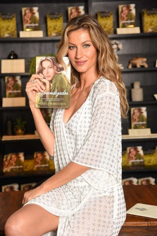 Gisele Bundchen - 'Lessons My Path to a Meaningful Life' Book Launch in Sao Paulo