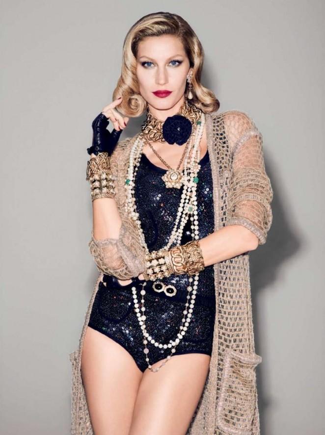 Gisele Bundchen - Vogue Brazil Magazine (December 2015) adds