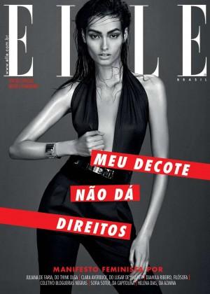 Gizele Oliveira - Elle Brazil Cover (December 2015)