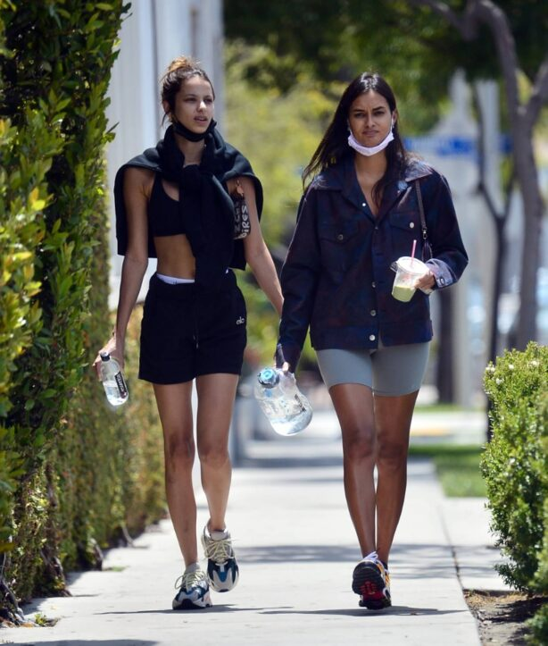 Gizele Oliveira - With Bruna Lirio make up free in Los Angeles