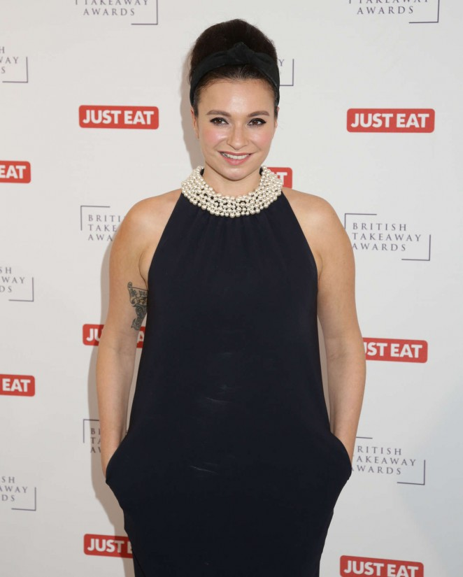 Gizzi Erskine - British Takeaway Awards 2015 in London