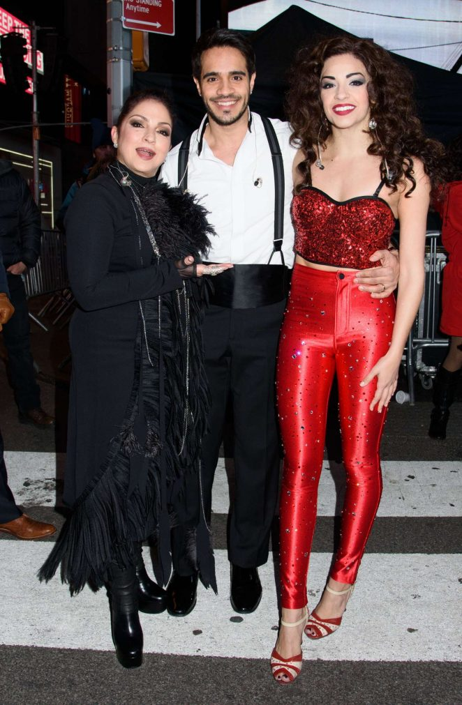 Gloria Estefan and Ana Villafane at Times Square New Years Eve 2017 in New York