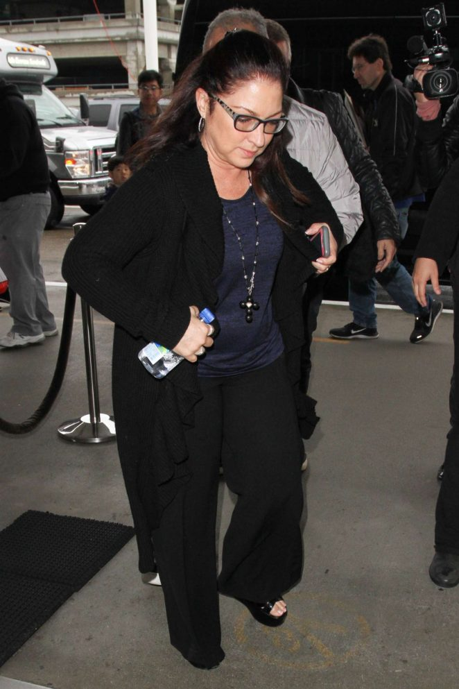 Gloria Estefan at LAX airport in Los Angeles