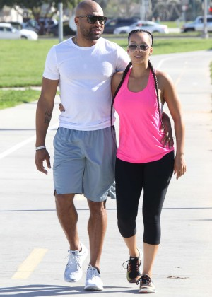 Gloria Govan with boyfriend out in Los Angeles