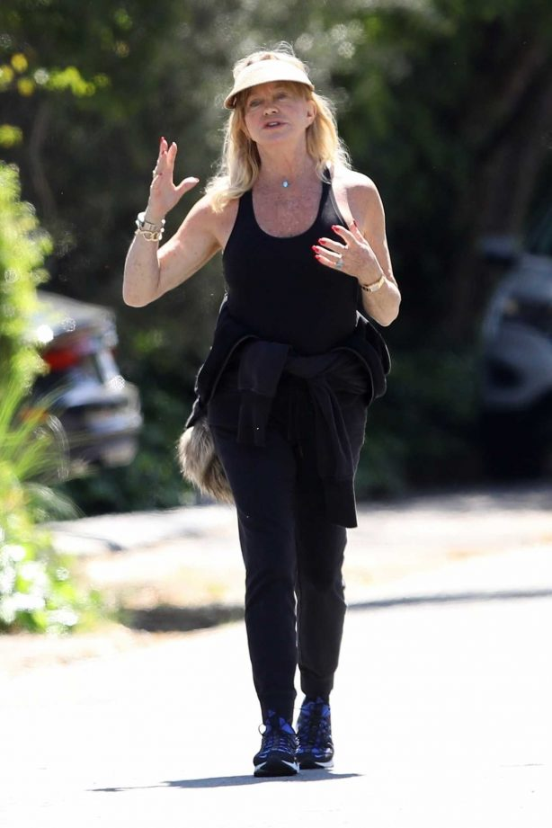 Goldie Hawn and Boston Russell - Get a Walk in Brentwood