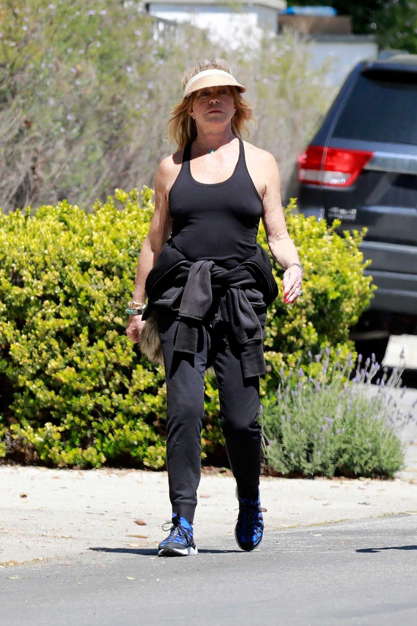 Goldie Hawn 2020 : Goldie Hawn and Boston Russell – Get a Walk in Brentwood-29