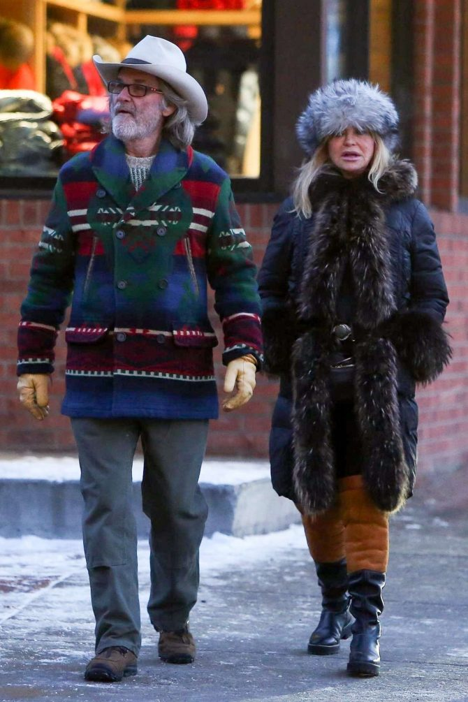Goldie Hawn and Kurt Russell - On New Years Day in Aspen