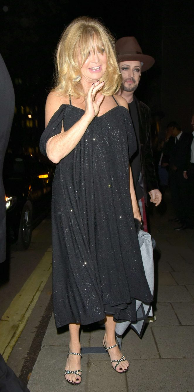 Goldie Hawn - Goldie Hawn's Charity Dinner in London