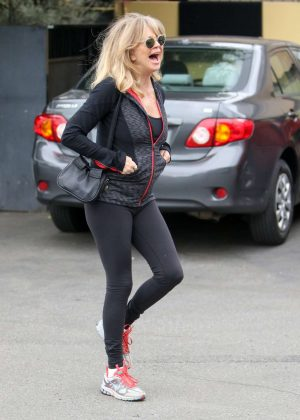 Goldie Hawn in Black Tights out in Los Angeles