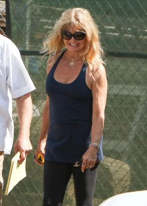 Goldie Hawn in Tights out in Los Angeles