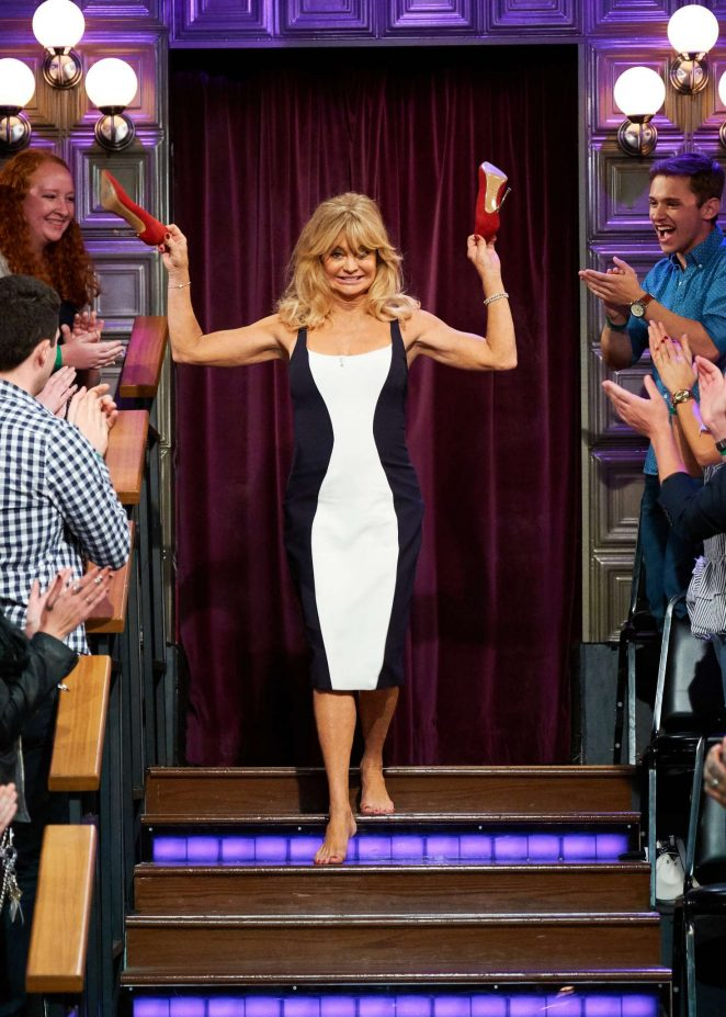 Goldie Hawn on 'The Late Late Show with James Corden' in Los Angeles