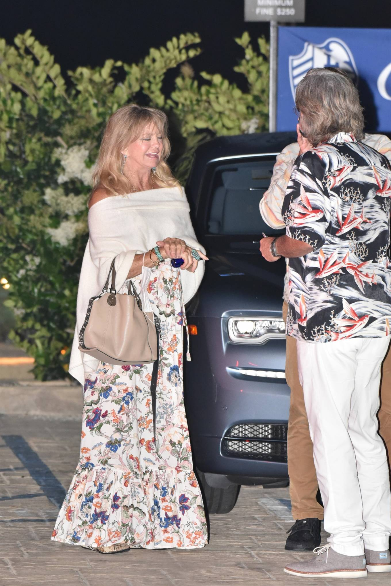Goldie Hawn 2020 : Goldie Hawn – Out for dinner in Malibu-02