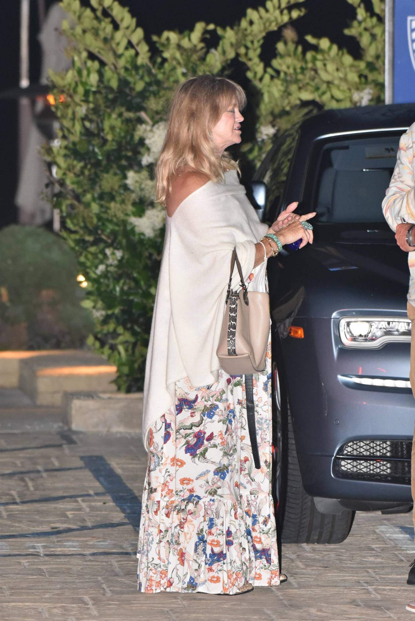 Goldie Hawn 2020 : Goldie Hawn – Out for dinner in Malibu-03