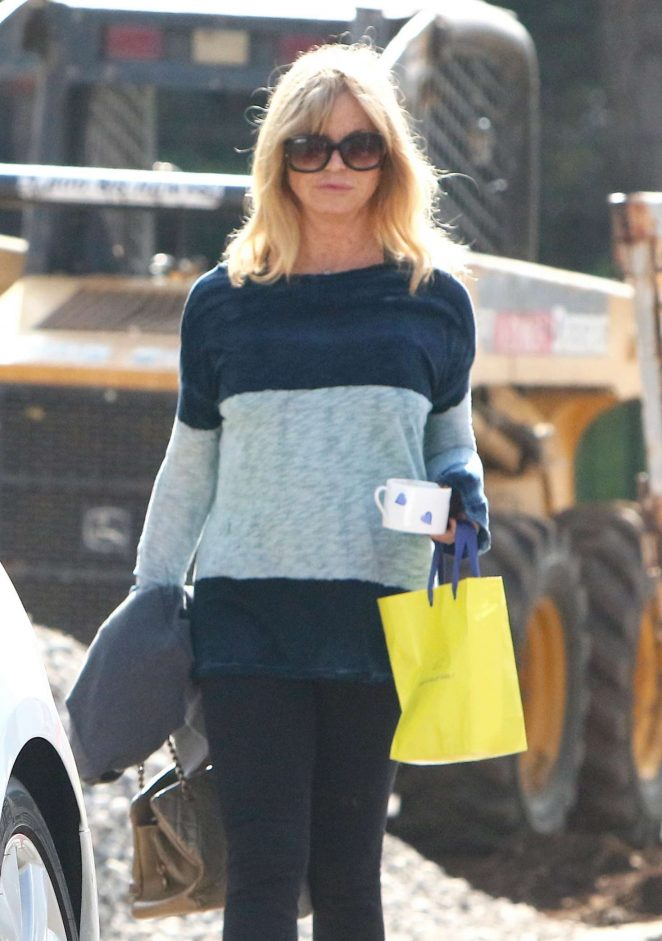 Goldie Hawn out in Pacific Palisades