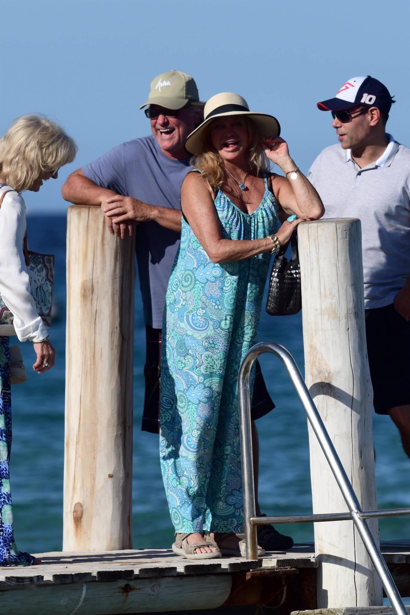 Goldie Hawn - Seen leaving Club 55 in St Tropez