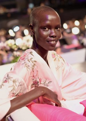 Grace Bol - Victoria's Secret Fashion Show Backstage 2017 in Shanghai