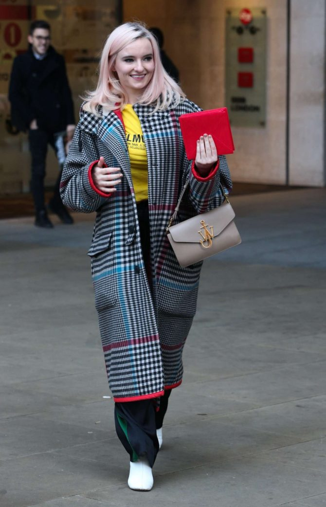 Grace Chatto - Leaving BBC Broadcasting House in London