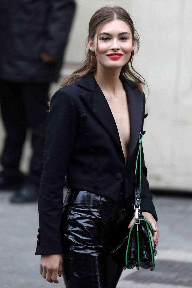 Grace Elizabeth - Leaving Chanel Fashion Show in Paris