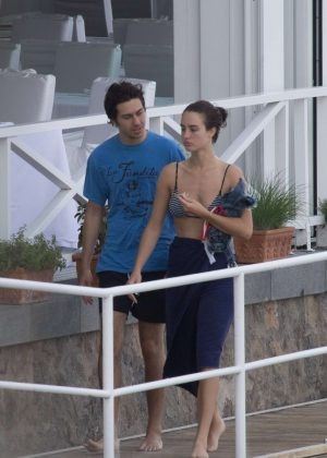 Grace Van Patten and Nat Wolff at Hotel Regina Isabella in Ischia