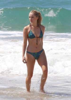 Greer Grammer in Green Bikini in LA