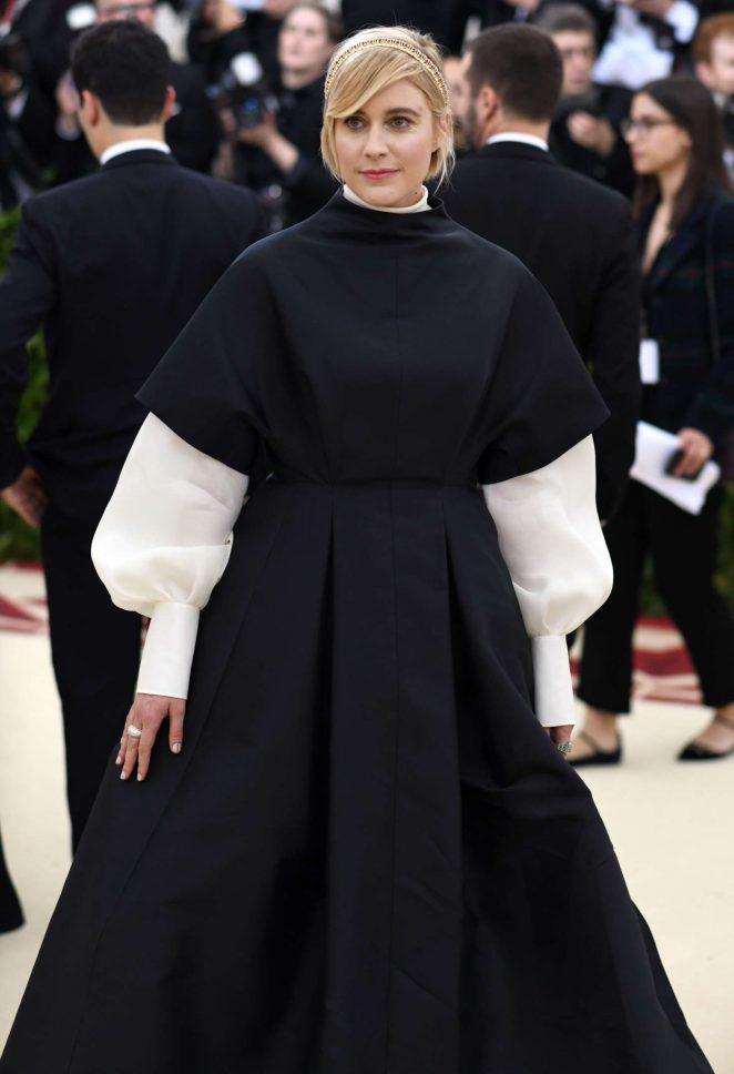 Greta Gerwig – 2018 MET Costume Institute Gala in NYC