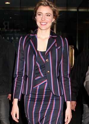 Greta Gerwig - Leaves the 'Today' in New York