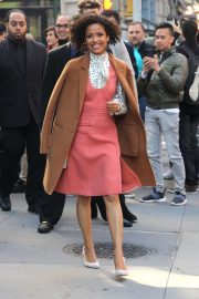 Gugu Mbatha-Raw - Arrives at Build Series in New York City