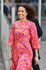 Gugu Mbatha-Raw on the Chris Evans Show promoting the 'Misbehaviour' film in London