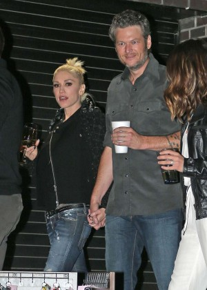 Gwen Stefani and Blake Shelton at CMA After Party in Nashville