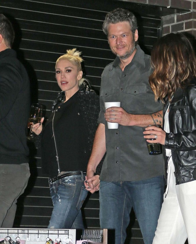 Gwen Stefani and Blake Shelton at CMA After Party -03