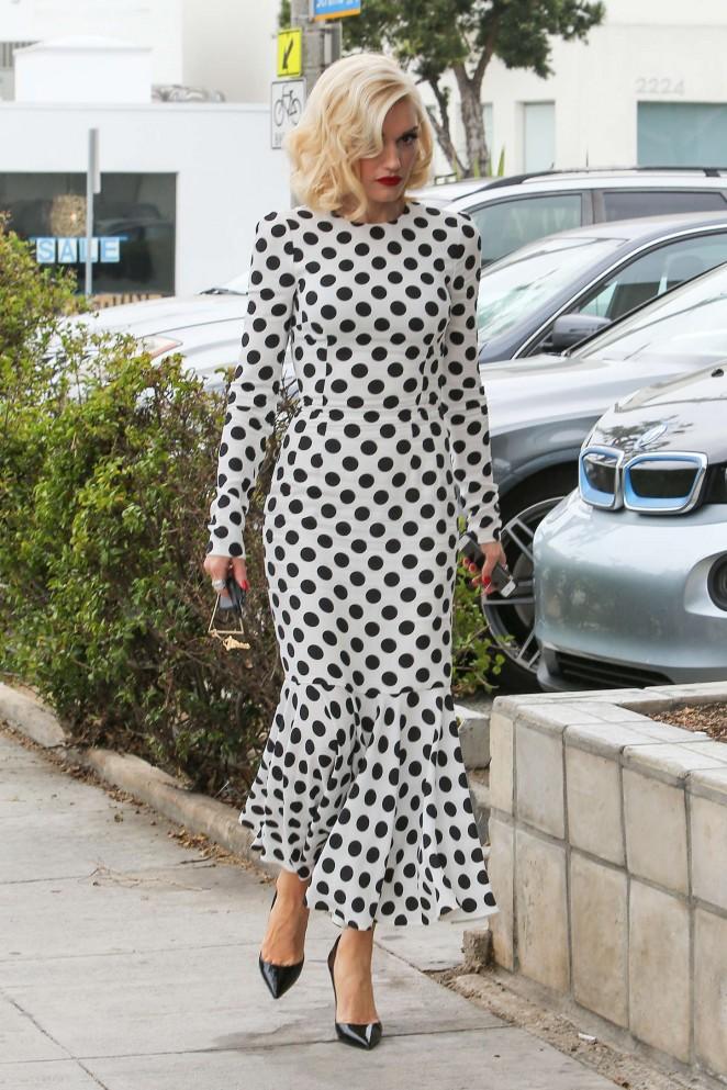 Gwen Stefani at a meeting in Santa Monica