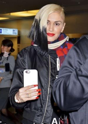 Gwen Stefani at Haneda Airport in Tokyo