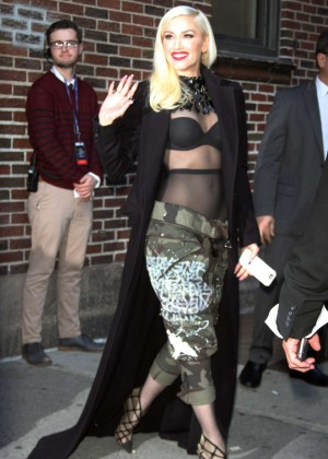 Gwen Stefani at The Late Show with Stephen Colbert in NY