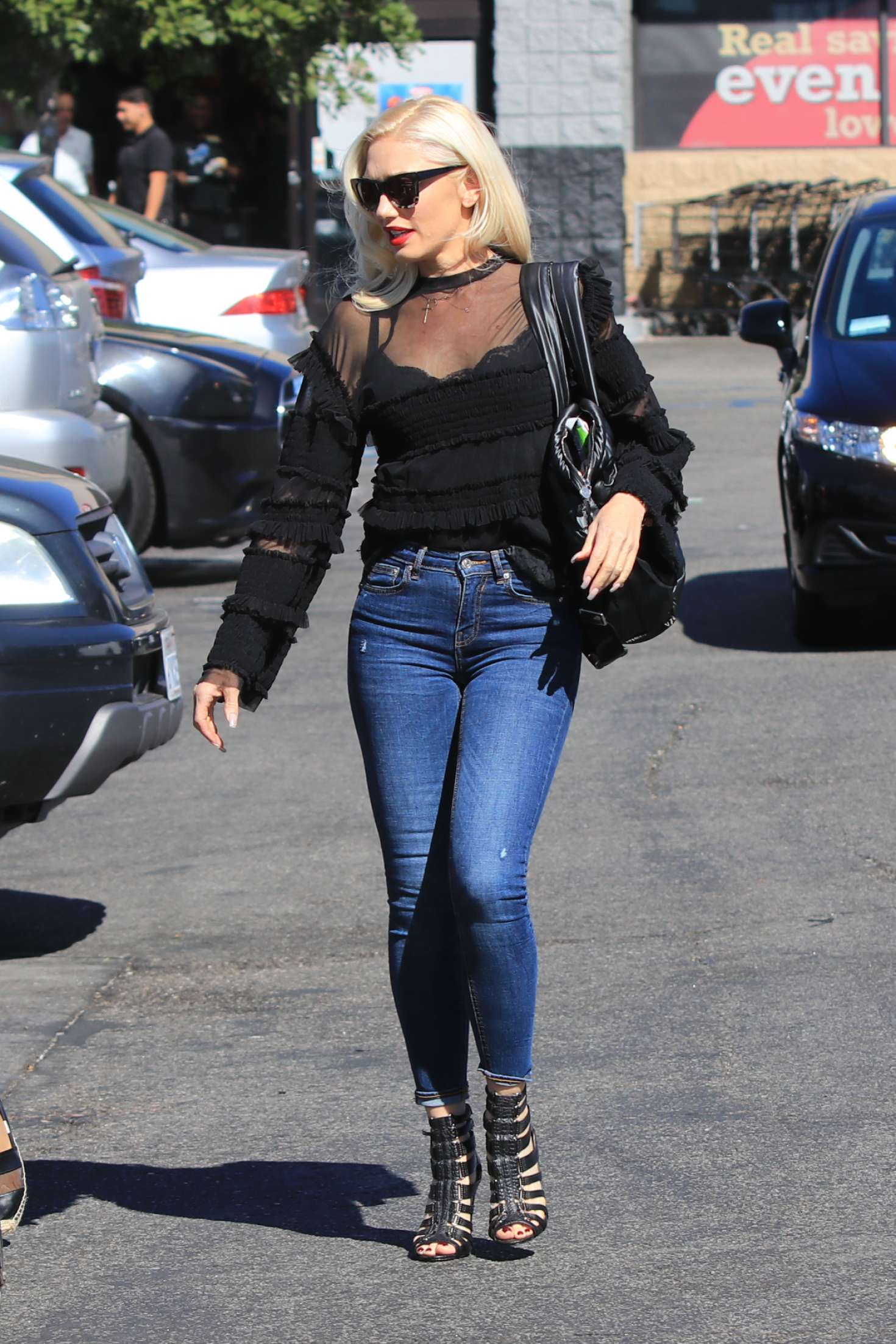 Gwen Stefani In Jeans Out In Los Angeles Gotceleb