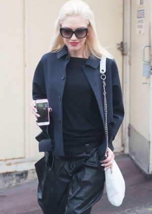 Gwen Stefani in Leather out in Los Angeles