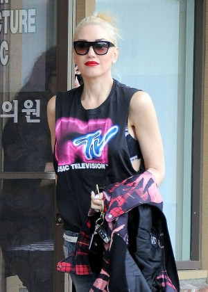 Gwen Stefani - Leaves Her Acupuncture Appointment in Los Angeles